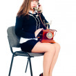 Attractive woman calling — Stockfoto