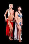 два привлекательных танцовщиц — Стоковое фото