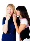 Two gossiping friends — Stock Photo
