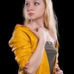 Portrait of beautiful blonde girl — Stock Photo #18632597