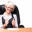 Stock Photo: Beautiful young businesswoman