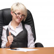 Beautiful young businesswoman — Stock Photo