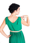 Beautiful woman in evening dress — Stock Photo