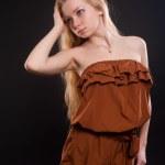 Portrait of beautiful blonde girl — Stock Photo #19682005