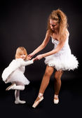 Two pretty ballerina's — Stock Photo