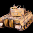 German heavy tank of World War II model - Stock Photo