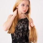 Portrait of beautiful blonde girl — Stock Photo #21904541
