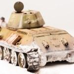 Постер, плакат: Diorama with old soviet t 34 tank