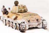 Diorama med gamla sovjetiska t 34 tank — Stockfoto