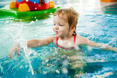 The little girl in the water — Stock Photo