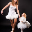 Two pretty ballerina's - Stock Photo