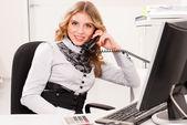 女商人和电话 — 图库照片