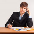 Attractive man calling by mobile phone — Stock Photo