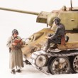 Постер, плакат: Diorama with old soviet t 34 tank
