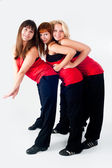 Group of dancing girls — Stock Photo