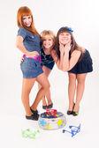 Três dançarinos bonitos — Foto Stock