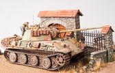 "Miniature with german tank ""Panther"" — Stock Photo"