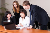 Office workers in business meeting — Stock Photo