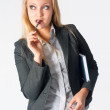 Portrait of business womwith organizer — Stock Photo #27052631