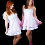 Two pretty girls dancing — Stock Photo #27056809