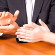 Clapping hands in office — Stock Photo