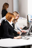 Businesswomen working in office — Stock Photo