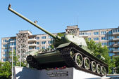 Soviet tank t34 monument in Kaliningrad — Stock Photo