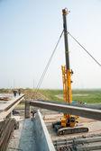 Process of bridge construction — Stok fotoğraf