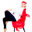 Stock Photo: Pretty girl on chair