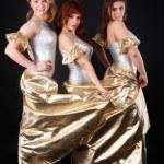 Three pretty girls dancing — Stock Photo #30253397
