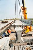 Proces výstavby mostu — Stock fotografie