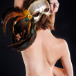 Pretty naked woman. Back view — Stock Photo