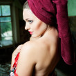 Pretty woman with a towel — Stock Photo #32498261