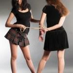 Young women argue — Stock Photo