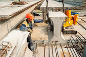 Process of bridge construction — Stockfoto