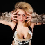 Pretty funny barbarian girl — Stock Photo #35516799