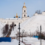 View of the Sofia vzvoz. Tobolsk Kremlin — Stock Photo