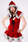 Beautiful and sexy christmas woman — Foto Stock