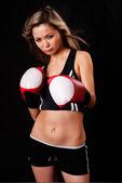 Portrét ženy boxer — Stock fotografie
