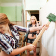 Attractive women with tools — Stock Photo