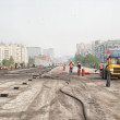 Construction of outcome between city roads — Stock Photo #37329883