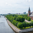 View on Pregolya river in Kaliningrad — Stock Photo