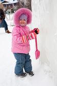 Portrait of lovely little girl — Stock Photo
