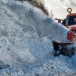 Truck cleaning road in winter — Stock Photo #38167111