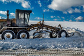 Snow grader — Stock Photo