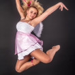 Pretty girl jumping — Stock Photo