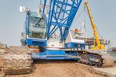 Big crane on construction site — Stock Photo