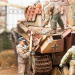 ������, ������: Miniature with german tank Panther
