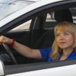 Young woman in car — Stock Photo #4129641