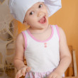 3 years old girl in cook role — Stock Photo #42027337